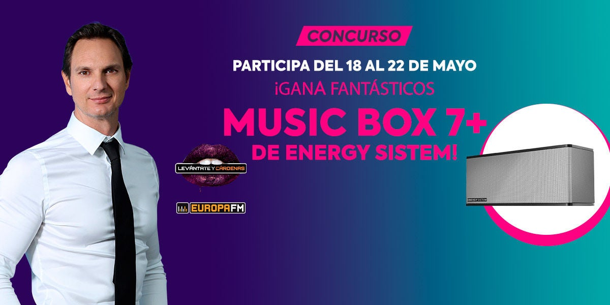 Concurso altavoces Music Box 7+ de Enery Sistem
