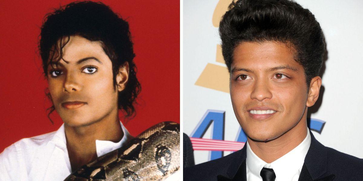 Michael Jackson y Bruno Mars