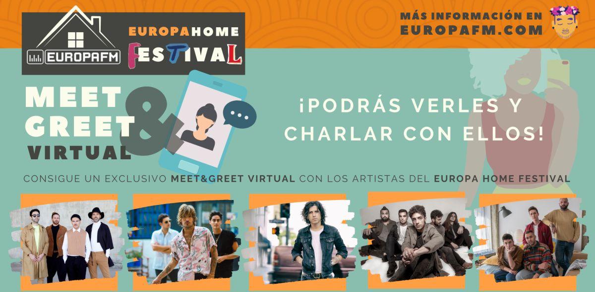 Consigue un meet&greet virtual con los artistas del Europa Home Date