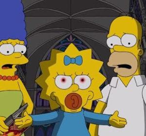 Maggie, Marge y Homer en 'Los Simpson'