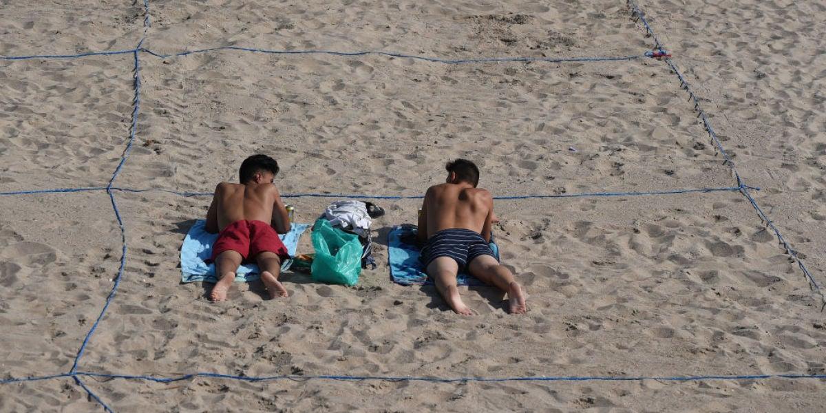 seguridad en las playas por el coronavirus