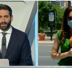 La reportera Blanca Núñez protagoniza un divertido momento en directo