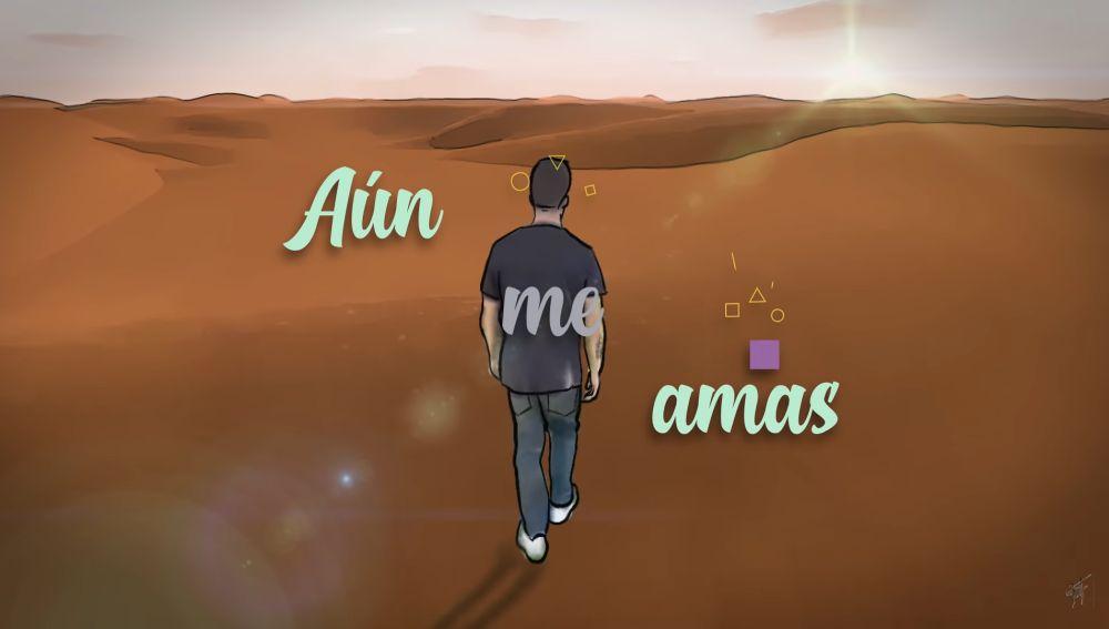 Beret en el lyric vídeo de 'Aún me amas'