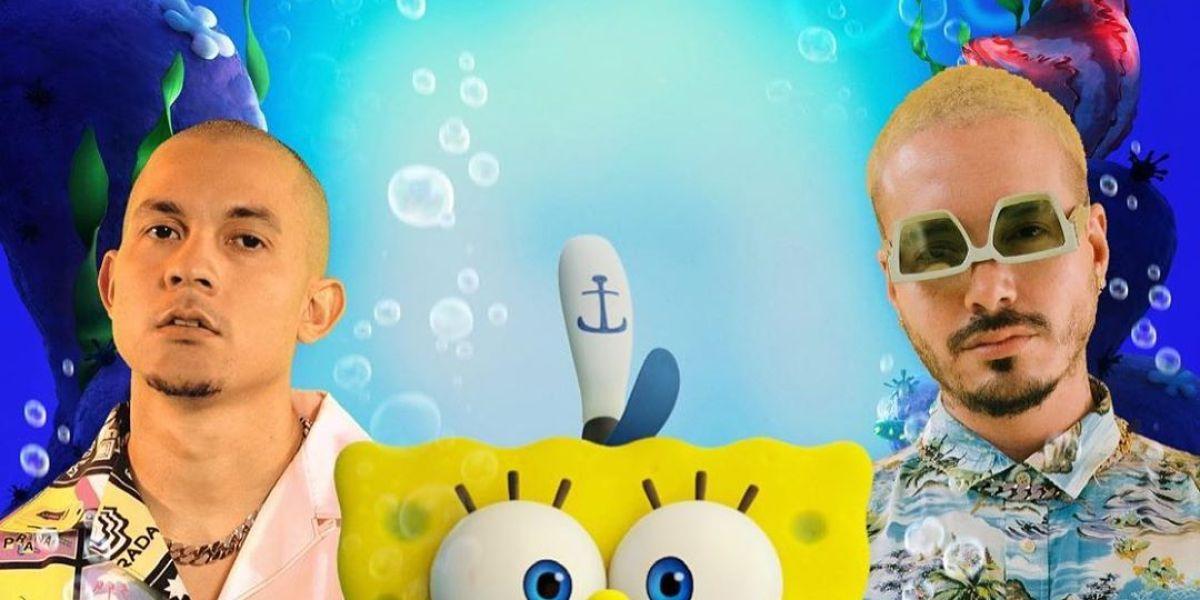 J Balvin y Tainy interpretan 'Agua' para la película de Bob Esponja