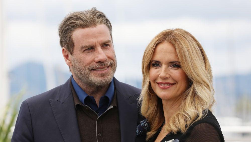 John Travolta con su mujer Kelly Preston