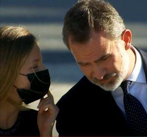La Princesa Leonor y el rey Felipe VI en el homenaje a las víctimas de la COVID-19