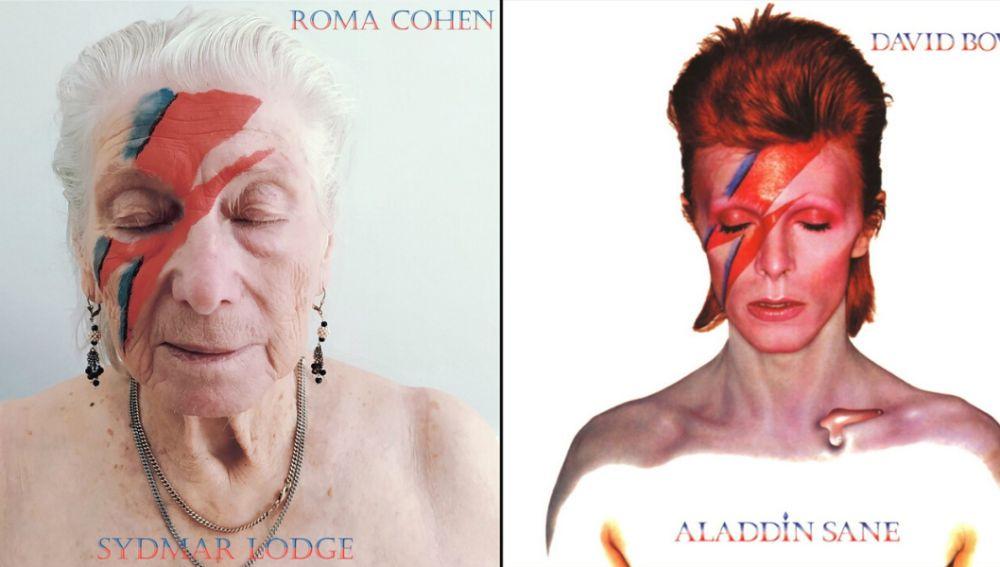 Recrean la portada de David Bowie para 'Aladdin Sane'