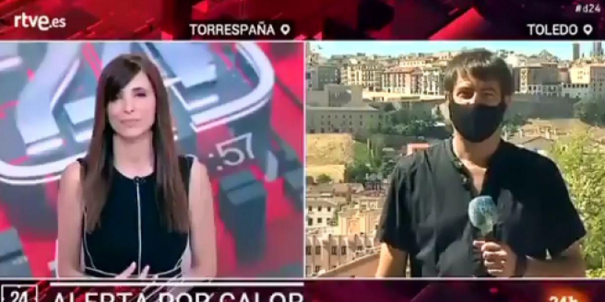 Reportero TVE Juan Ballesteros