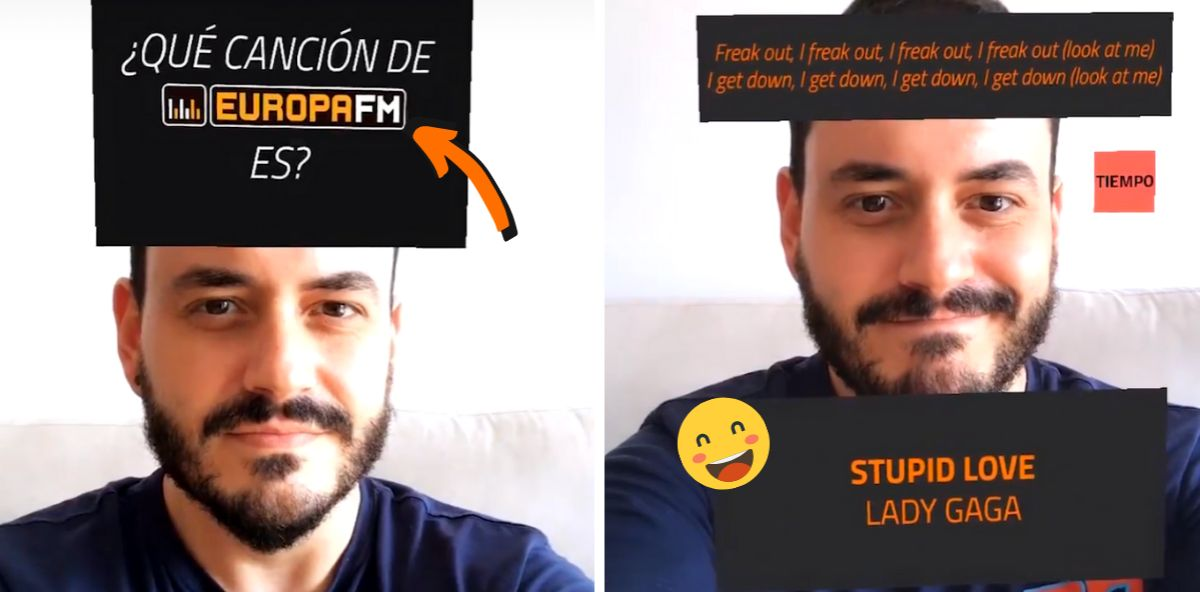 Juanma Romero, presentador de ¿Me Pones?, probando el filtro