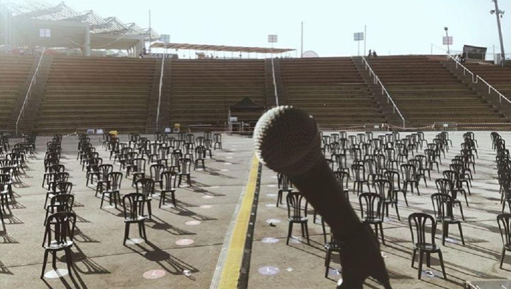 Imagen desde el escenario del Primavera Sound