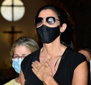 Paz Padilla en el funeral por su marido Antonio Juan Vidal
