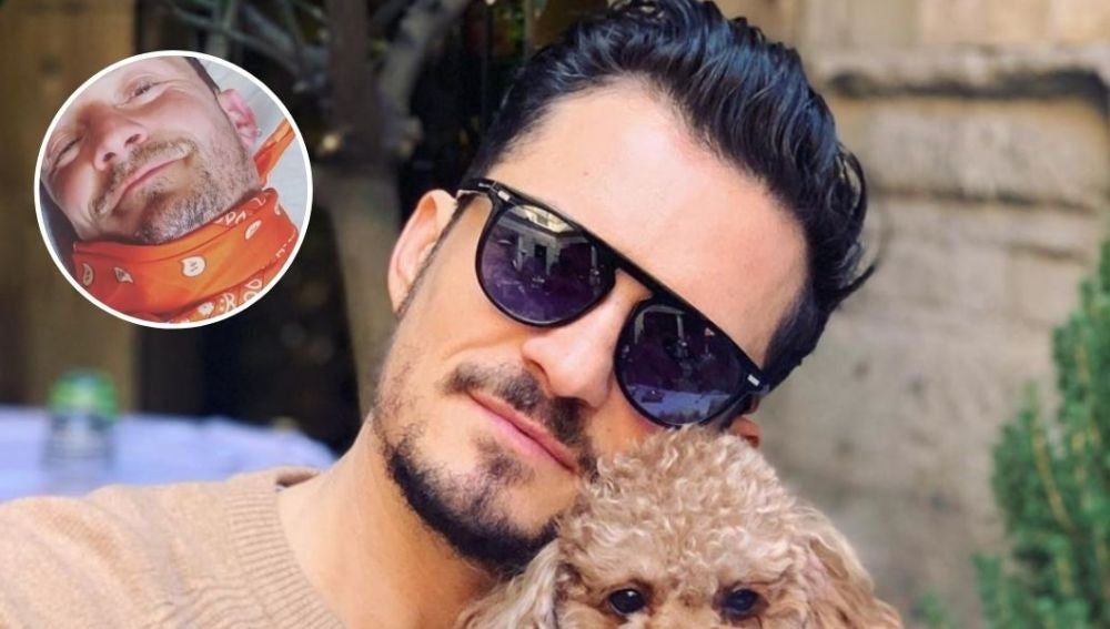 Orlando Bloom y su perrito Mighty