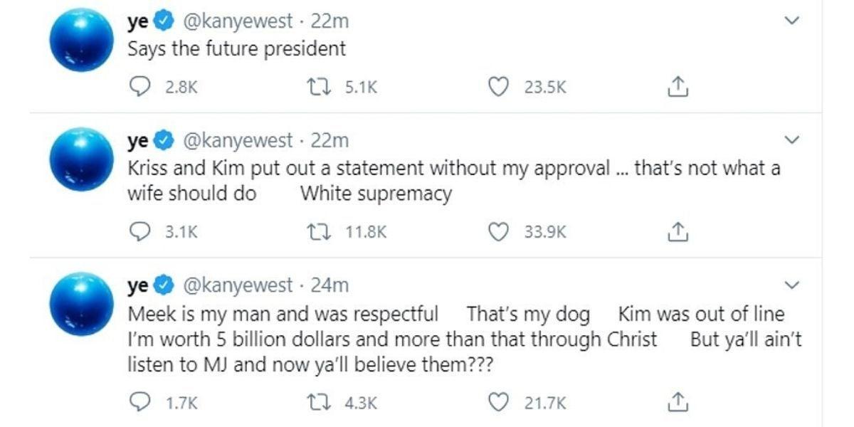 Los tuits de Kanye West