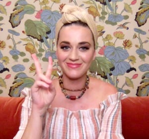 Katy Perry durante un evento virtual