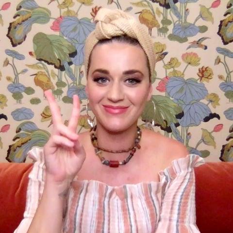 Katy Perry durante un evento virtual