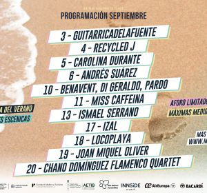 Cartel del mes de septiembre del Mallorca Live Fest Summer Edition