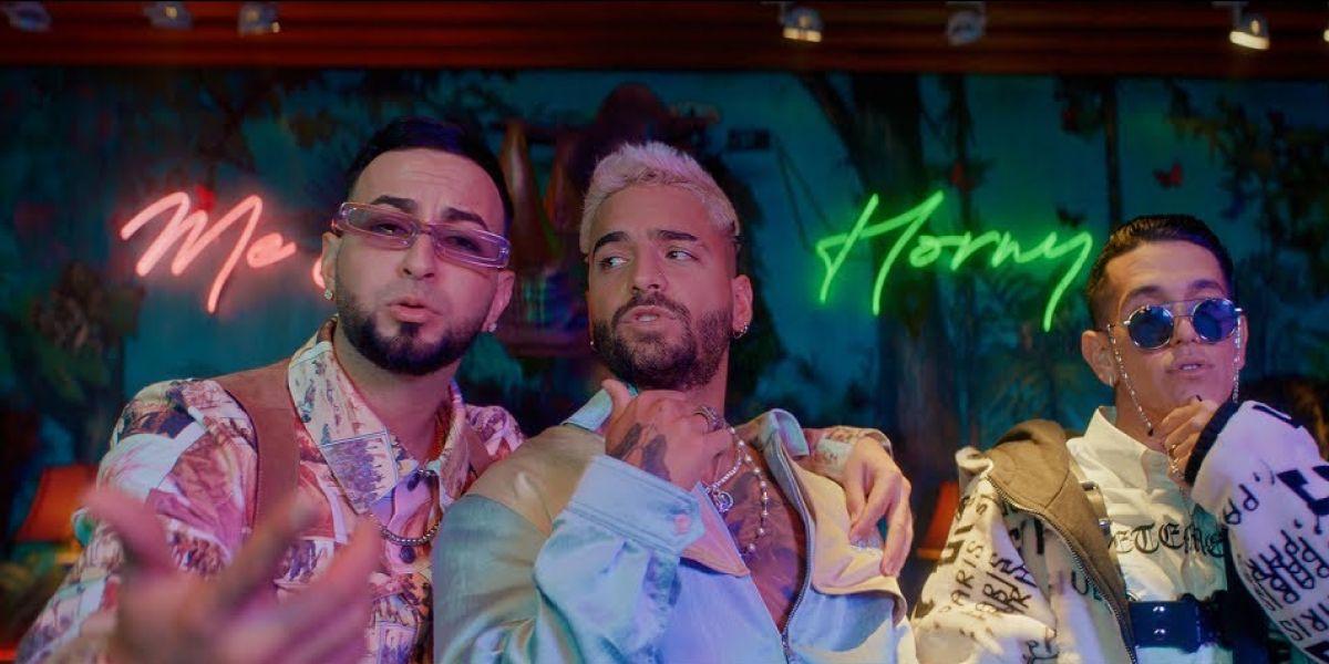 Maluma, Justin Quiles y Lenny Tavárez  en el vídeo de 'Parce'