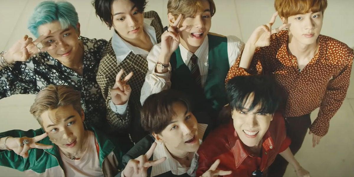 BTS en la versión b-side del vídeo de 'Dynamite'