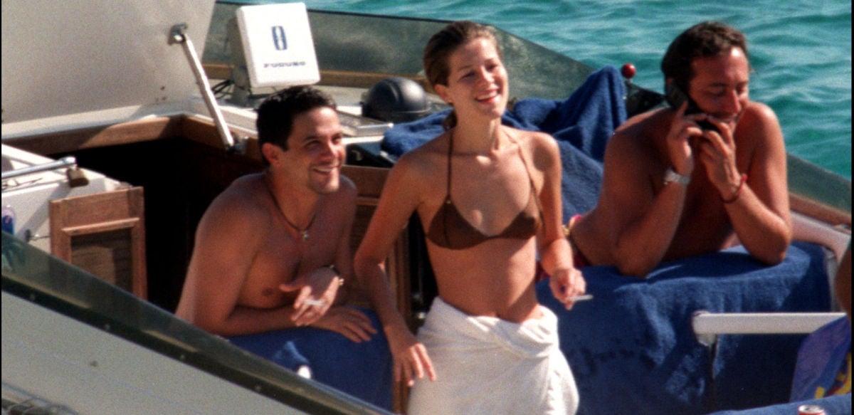 Jaydy Michel y Alejandro Sanz en 1998 en Ibiza