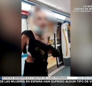 agresión metro Madrid