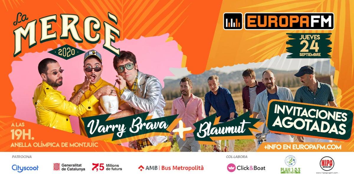 Vive La Mercè 2020 en el escenario Europa FM con Varry Brava y Blaumut