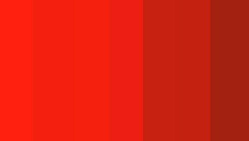 Reto visual: ¿Cuántos tonos de rojo ves?