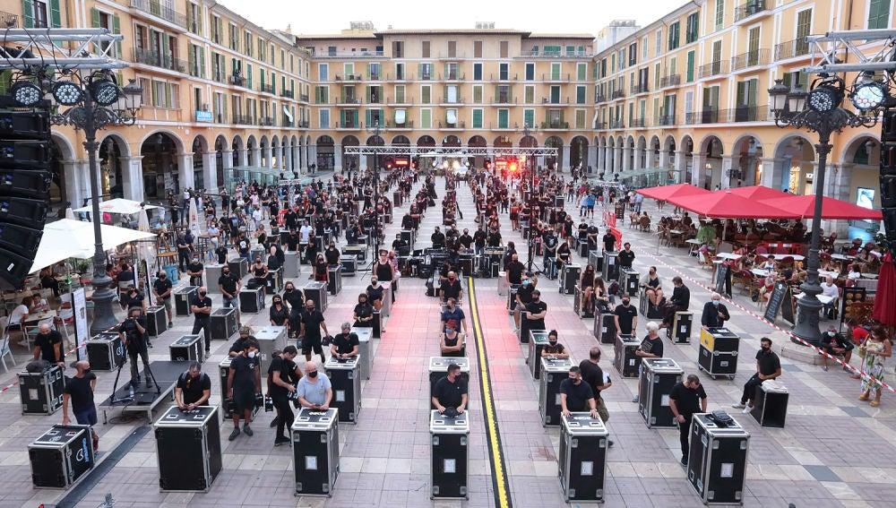 Manifestación 'Alerta Roja' en Palma