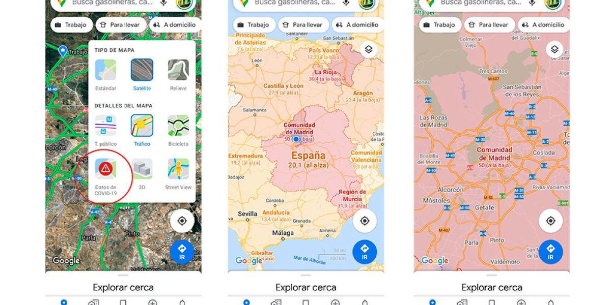 Mapa COVID19 Google Maps