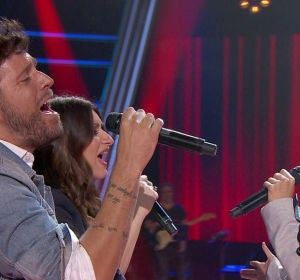 Pablo López, Laura Pausini y 22 Dúo, un momento único interpretando 'More tan words' en 'La Voz'