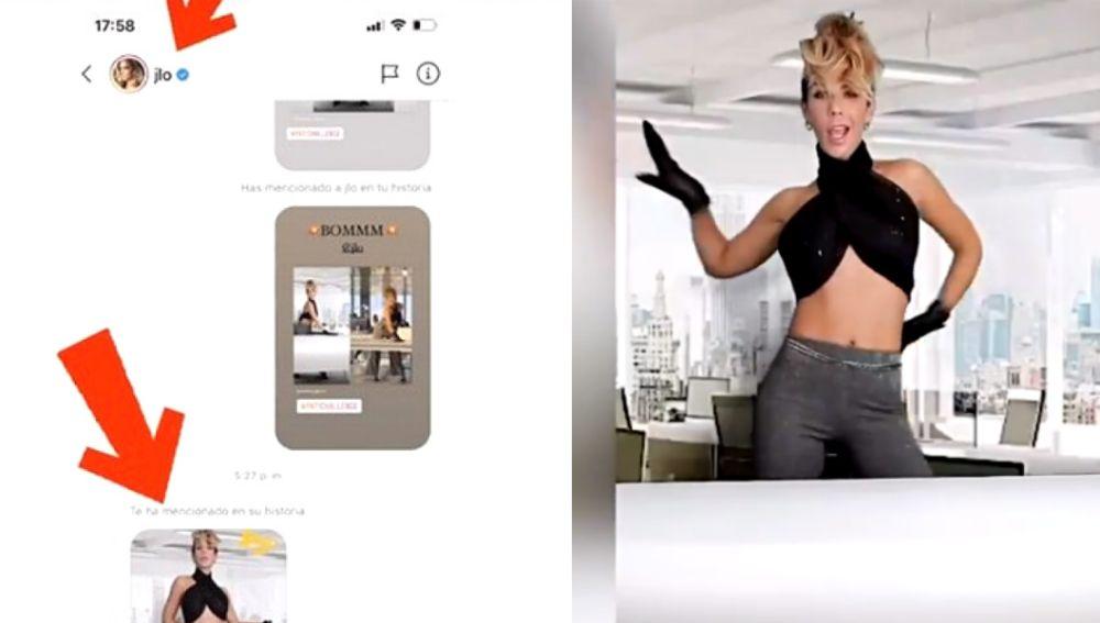 Jennifer Lopez comparte un Stories de Tamara Gorro