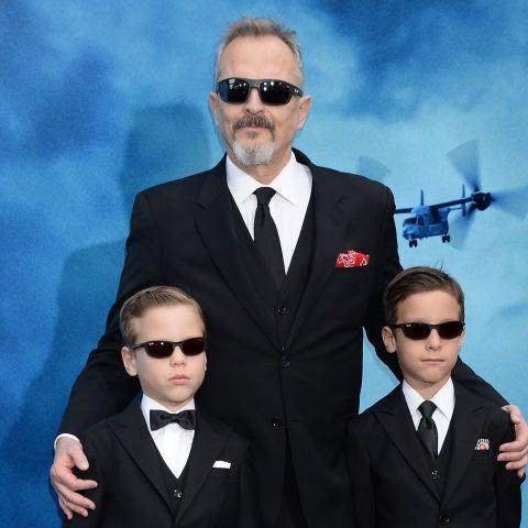 Miguel Bosé con sus hijos Diego y Tadeo