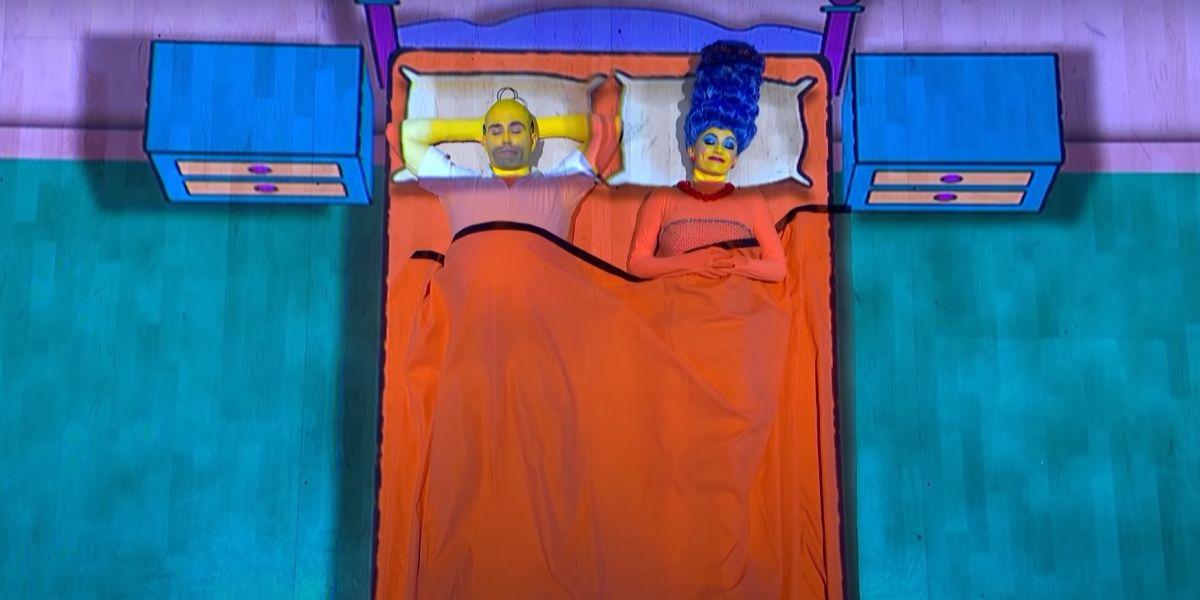 Max George y Dianne Buswell imitan a Los Simpson