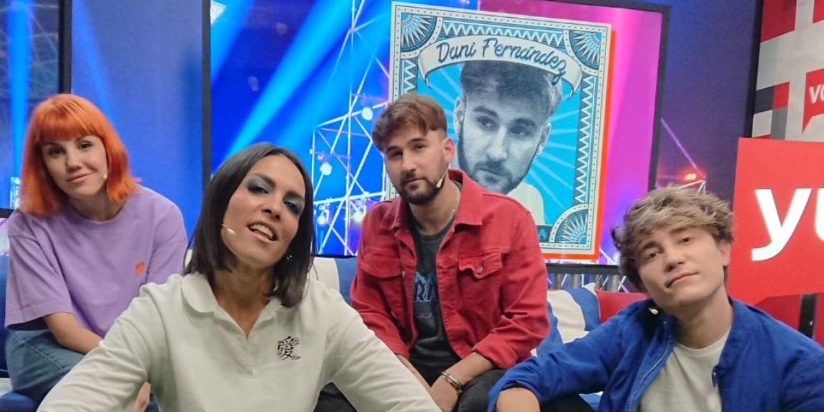 Angy Fernández, Lorena Castell, Dani Fernández y Carlos Marco en 'yu Music'