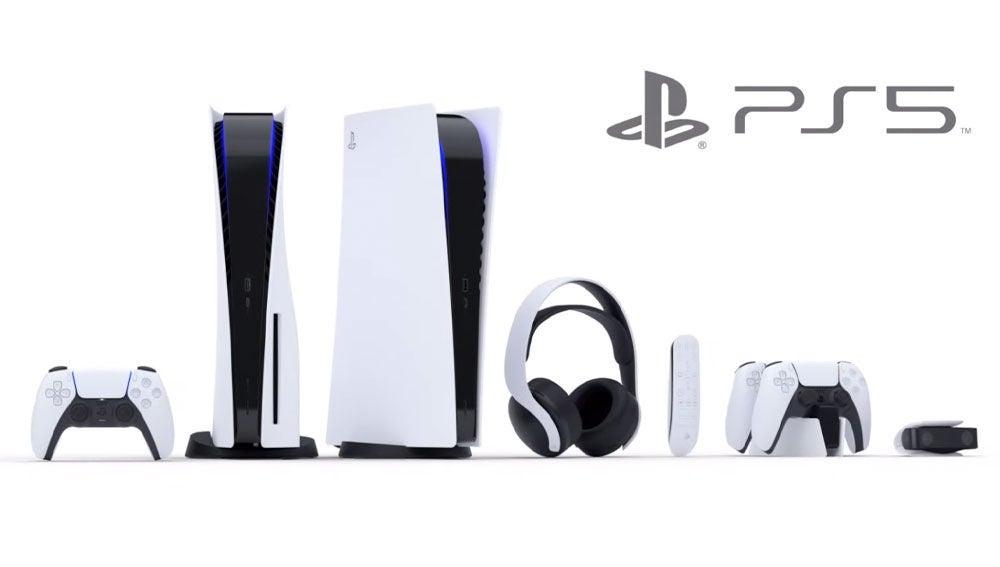 La familia de consolas y accesorios de PlayStation 5.