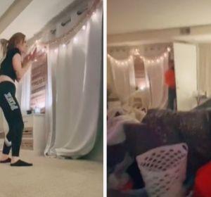 Una joven es sorprendida por un acosador que se cuela en su apartamento