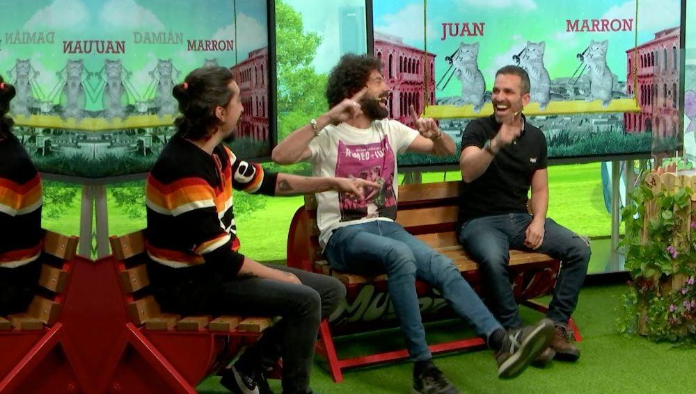 Juan, Damián y Marron en 'yu'
