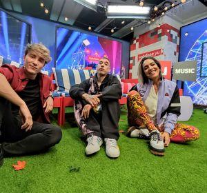 Carlos Marco, Kaydy Cain y Lorena Castell en 'yu Music'