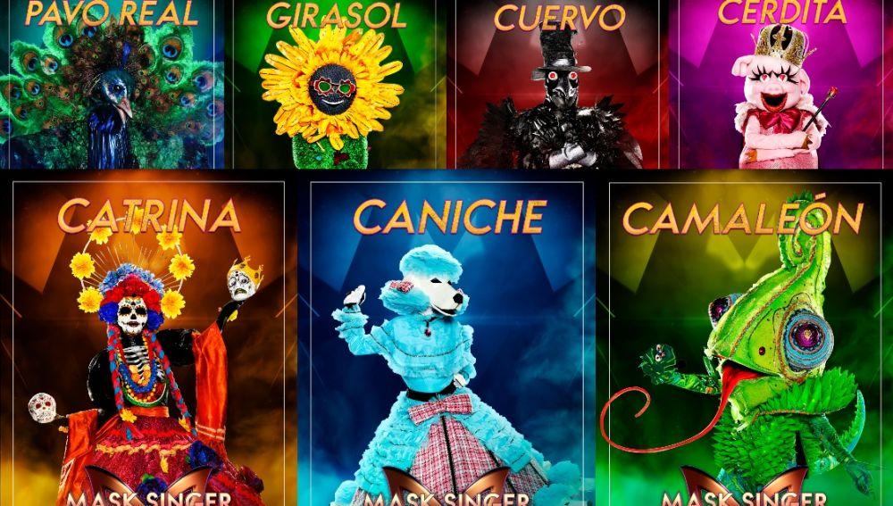 Las siete máscaras de la sexta gala de 'Mask singer'