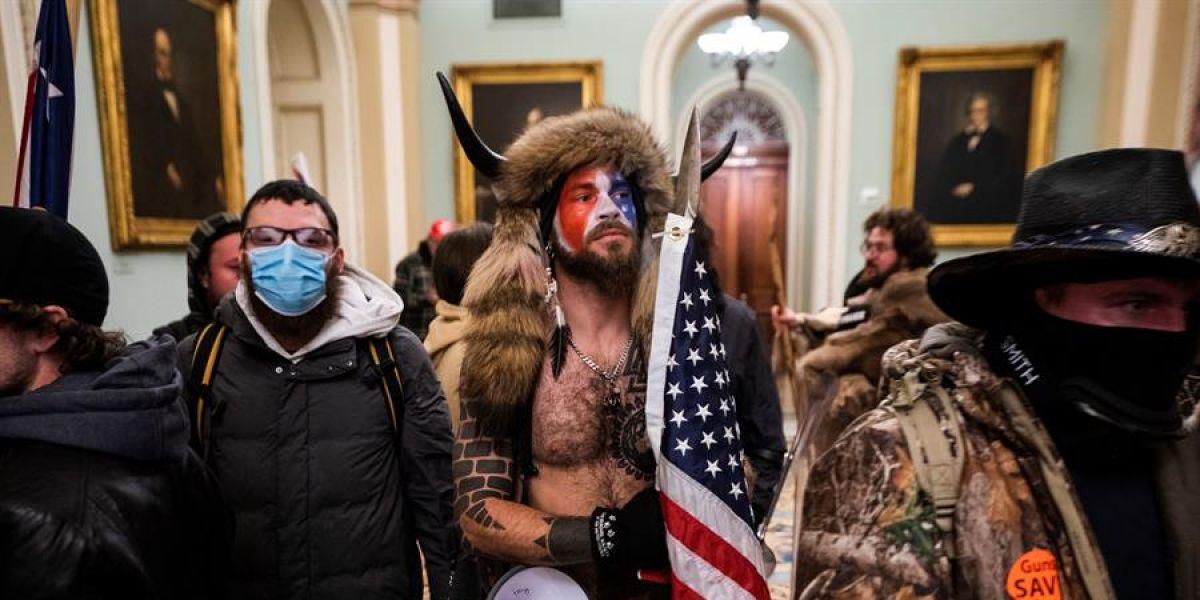 Algunos de los seguidores de Donald Trump en el asalto al Capitolio