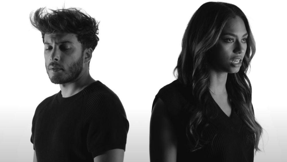 Blas Cantó y NIA en el vídeo de 'Cúrame'