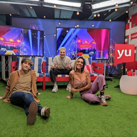 Carlos Marco, Hugo Cobo y Lorena Castell en 'yu Music'