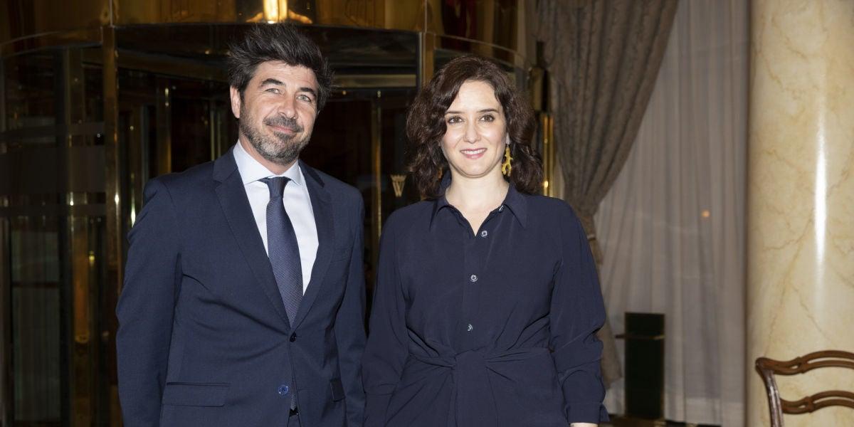 Isabel Díaz Ayuso y su pareja, Jairo Alonso