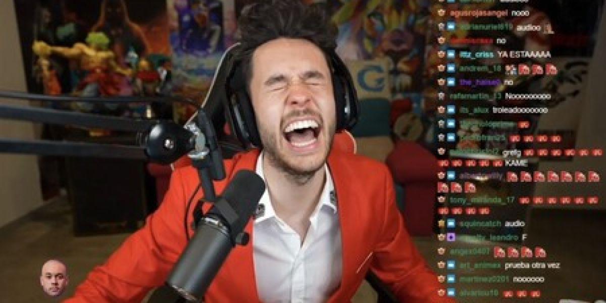 TheGrefg en su directo en Twitch