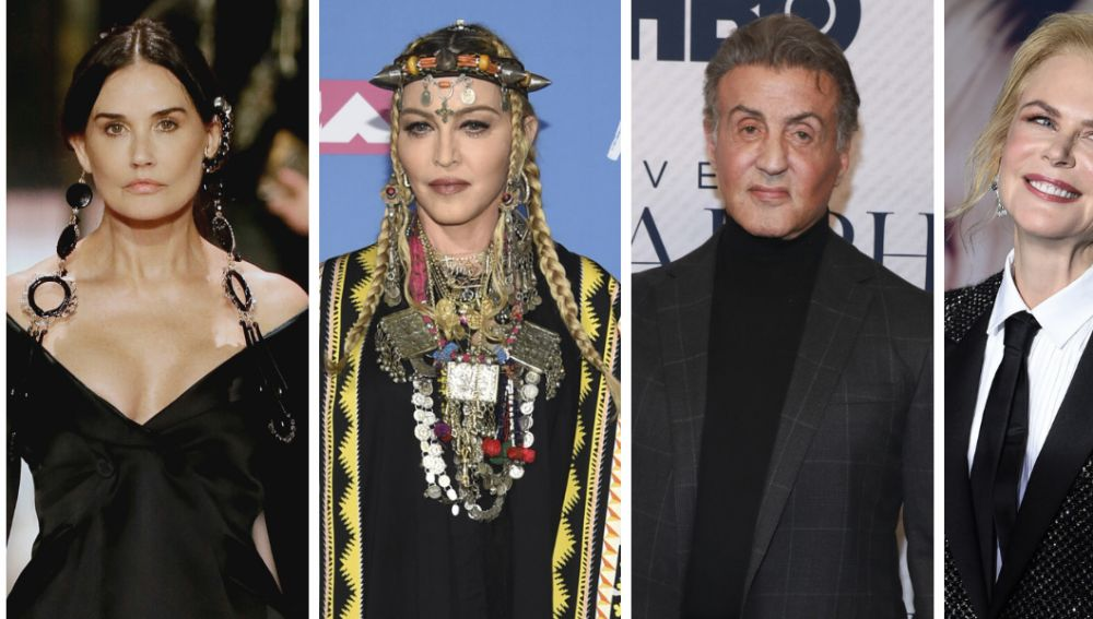 Demi Moore, Madonna, Stallone y Nicole Kidman