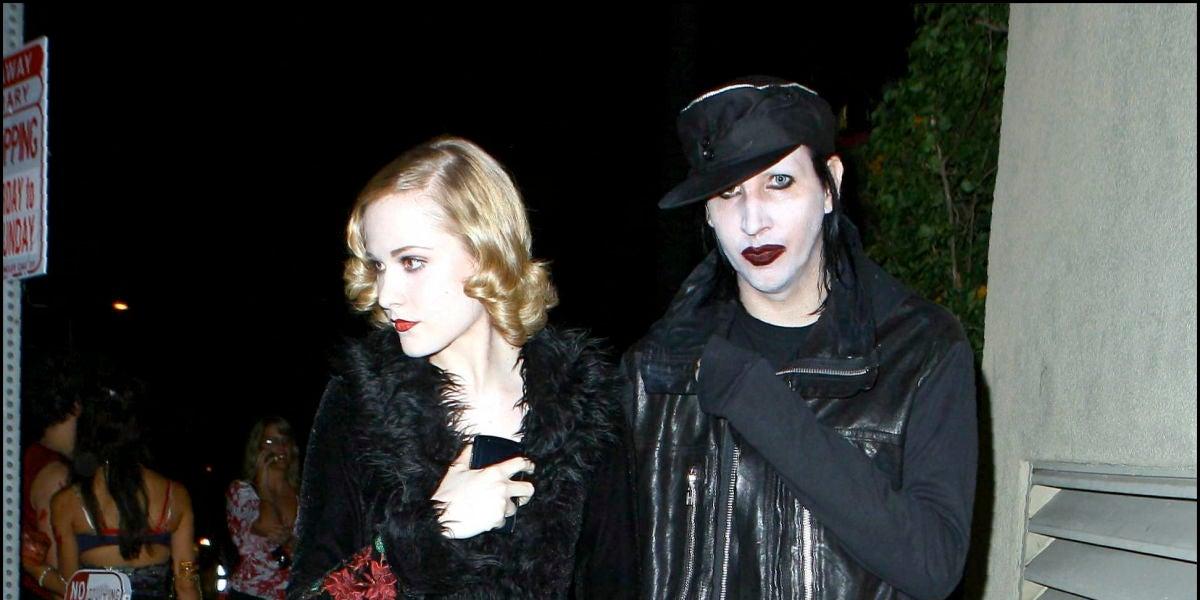Evan Rachel Wood y Marilyn Manson
