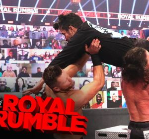 Bad Bunny ataca a John Morrison y The Miz en la WWE Royal Rumble