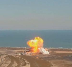 Momento de la explosión de la aeronave de SpaceX