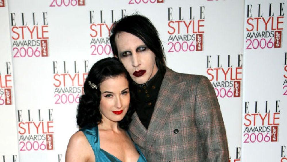 Dita Von Teese y Marilyn Manson en 2006