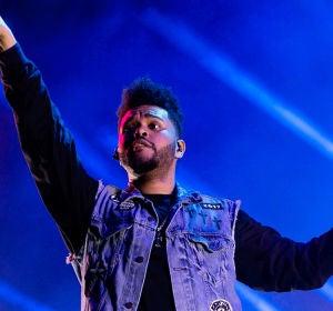 The Weeknd durante un concierto