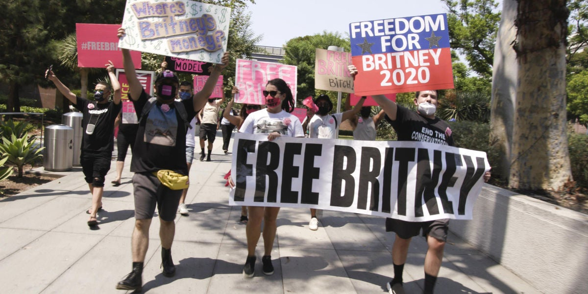 Defensores del movimiento #FreeBritney.
